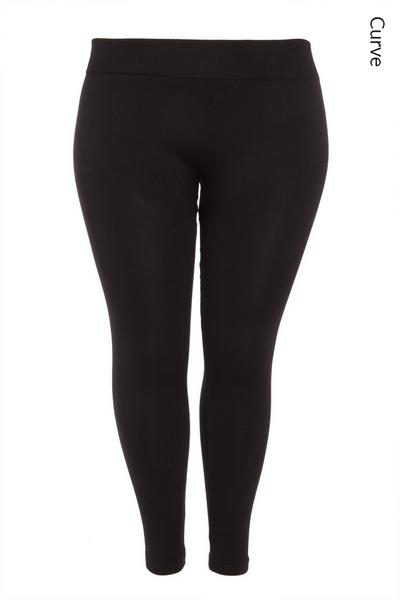 Curve Black Fleece Lined Leggings